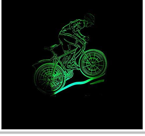 Bicicleta Modelado 7 Cambio de color Usb Lámpara 3D Ciclismo Usb Led...