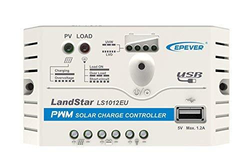 EPEVER® PWM LS1012EU - Regolatore di carica solare con porta USB, 10 A, 12 V