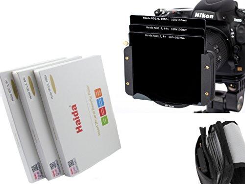 Haida Optical Neutral 3er Graufilter Set 100 mm x 100 mm ND0.9 (8x) / ND1.8 (64x) / ND3.0 (1000x) - Inkl. Haida Filtertasche - Kompatibel mit Z Pro und SW100 Halter