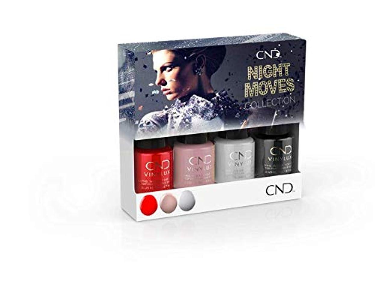 混合したコンパニオンフィヨルドCND Vinylux - Night Moves The Collection - Mini 4pk - 3.7 mL / 0.125 oz