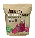 Anthony's Organic Beet Root Juice Powder, 1 lb, Gluten Free, Non GMO, Vegan Friendly