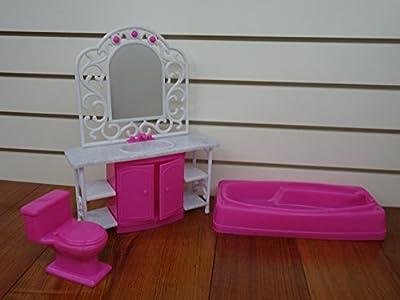 Gloria Bathroom PLay Set for dolls and dollhouse furniture