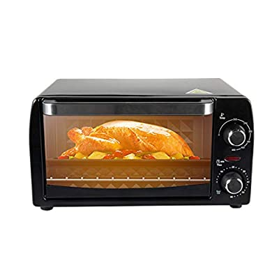 CalmDo Oven Toaster and Grill Household Baking Electric Oven, 9L, Black