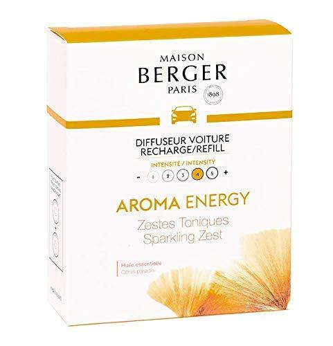 Maison Berger - Cofanetto 2 Ricariche per diffusore Auto Collezione Aroma - Energy