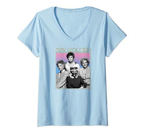 Women's The Golden Girls Stay Golden V-Neck T-Shirt, 5 Colors, S to 2XL
