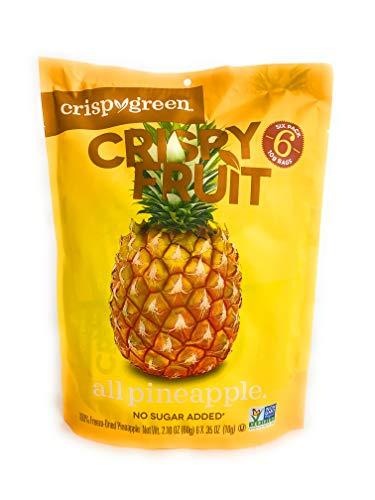 Crispy Green, Pineapples, 0.36 Ounce, 6 Pack