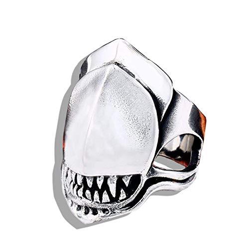 NA Película Acero Inoxidable Alien Battle Predator Shark Animal Ring Hombres Moda...