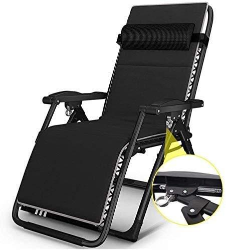 KEOA Übergroßen Terrasse Stuhl Liegestuhl Klappbar Sonnenliege Gartenstuhl Camping Relaxsessel Unterstützt 200 kg für schwere Leute-66 * 72 * 85cm