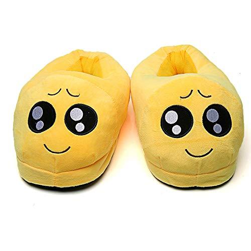Hausschuhe Slipper Pantoffeln Damen Herren Winter Hausschuhe Frauen Schuhe Warm Soft Indoor Hausschuhe Männer Plüsch Schuhe Cute Funny Home Flats rutschfeste Raumrutschen-Pity_36