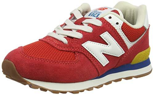 New Balance 574 Heritage Vintage Pack, Zapatillas, Rojo (Team Red), 39 EU