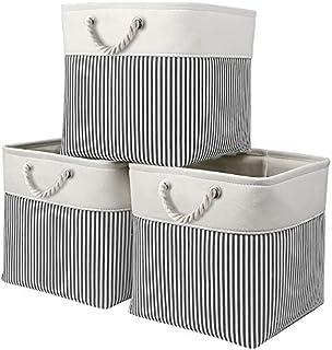 Mangata Cube de Rangement Tissu, Panier Cube de Rangement, Boite de Rangement Pliable pour Jouets, Vêtement 33 x 33 x 33 c...