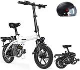 Bicicletas Eléctricas, 14' plegable / Carbono Material Acero Ciudad de bicicleta eléctrica asistida eléctrica deporte de la bicicleta de montaña de la bicicleta con la batería de litio extraíble 400W