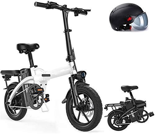Bicicletas Eléctricas, 14 'Plancha / Material de acero al carbono Ciudad Ciudad Bicicleta eléctrica Asistida Bicicleta eléctrica Bicicleta de montaña con batería de litio extraíble 400W / 48V, negro,