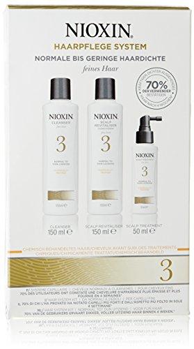 Nioxin - Kit 3 Cheveux Fins Traités Chimiquement Normaux à Fins
