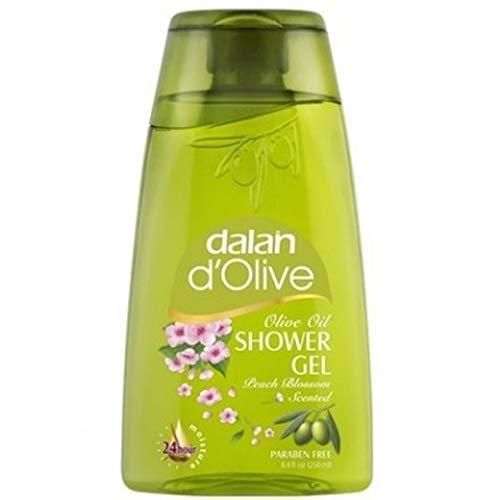 6 x Dalan d'Olive Duschgel Olivenöl mit Peach Blossom - 250 ml