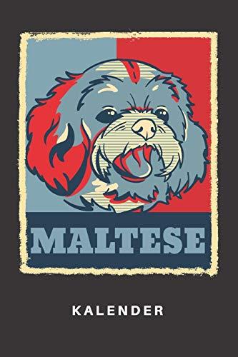 Kalender: Kalender | Notizkalender | Schreibkalender | Jahreskalender | Tageskalender | DIN A5 | Hund | Hunde | Hunderasse | Hundezüchter | Malteser | ... | Haustier | Retro | Vintage | Grafik