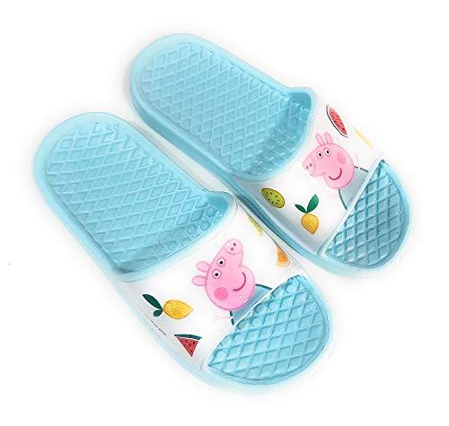 Chanclas Peppa Pig para Playa o Piscina - Chanclas Peppa Pig para niñas (Aguamarina, Numeric_28)
