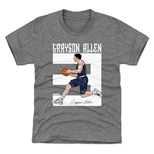 500 LEVEL Grayson Allen Memphis Youth Shirt (Kids Shirt, X-Large (14-16Y), Tri Gray) - Grayson Allen Number WHT