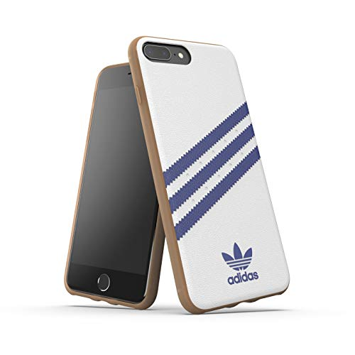 adidas Funda Original Samba para iPhone 6/6S/7/8 Plus, Color Blanco y Azul Marino