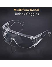 Mainstayae Goggles Lab Safety Protective Safety Glasses Clear Polycarbonate Visor Anti-Fog High Impact Resistance