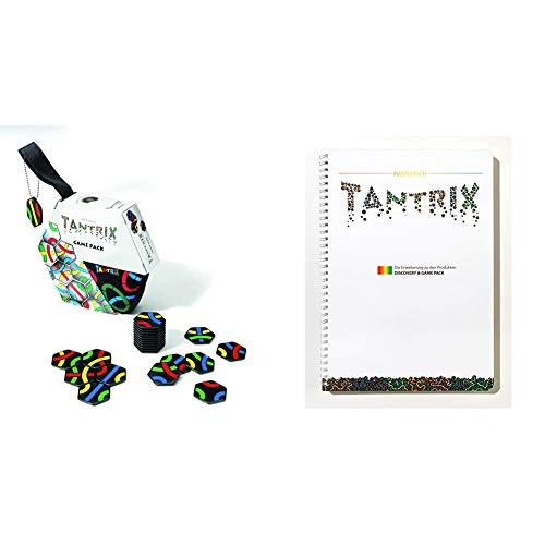Tantrix 53001 Game Pack Strategiespiel und Puzzle, Schwarze Spielsteine & Puzzlebuch Puzzle