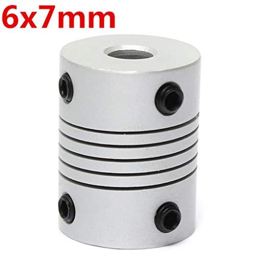 Yongse 6 mm x 7 mm aluminium flexibele koppeling OD19 mm x L 25 mm CNC stepper motor koppeling aansluiting