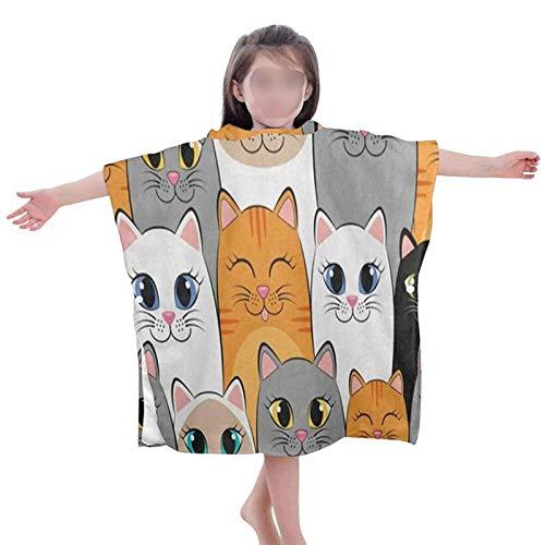 Yusheng Toalla de baño para bebé, poncho con capucha, de algodón, para recién nacidos, 60 x 60 x 30 cm