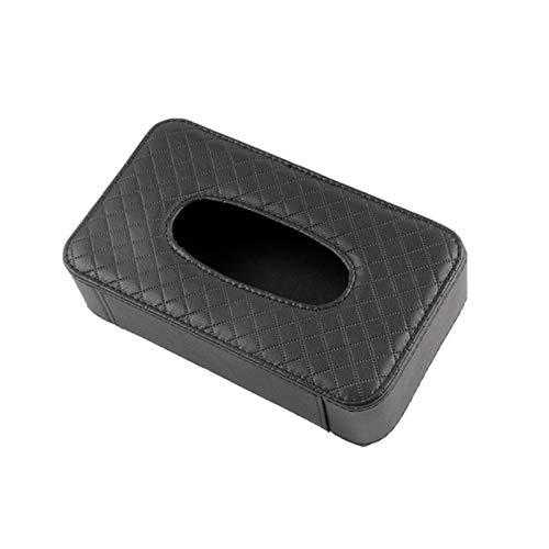FENGFENG Sun Can Caja de Tejido de Cuero PU Soporte de Tejido para automóvil Visera Solar Caja de Almacenamiento de servilletas para Organizador automático Accesorios (Color Name : Black)