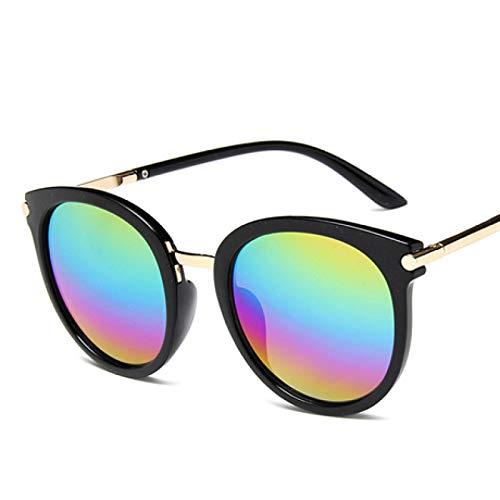 NJJX Gafas De Sol Para Mujer, Espejos De Conducción Para Mujer, Lentes Reflectantes Planas, Gafas De Sol Para Mujer, Multi