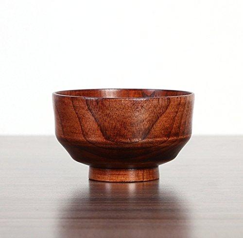 dingsheng Natuurlijke jujube-houten schaal, handwrijf voor rijst Miso Japanse keuken jujube houten schaal, Chinese bailer van de Japanse stijl, rijstsnoedels houten sla