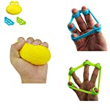Finger Exerciser Ball Hand Strengthener Set , Hand Grip Ball Physical Therapy Finger Wrist Exerciser Strengthening Trainer for Arthritis , Rehabilitation ,Athletes, Musicians, Guitar