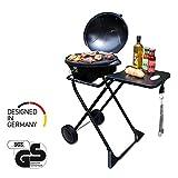 SUNTEC Barbecue Braciere Elettrico BBQ [Cofano Amovibile con Indicatore di Temperatura, Termostato...