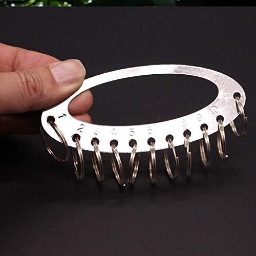 Tragbares Schlüsseletikett, abnehmbares Schlüsselverwaltungs-Schnallenetikett, kleine Schlüsselplatte-11-Bit-Festplatte