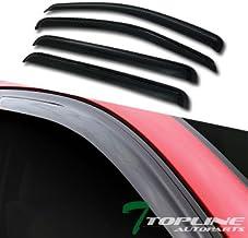 Topline Autopart Smoke Window Visors Deflector Vent Shade Guard 4 Pieces For 04-10 Dodge Durango