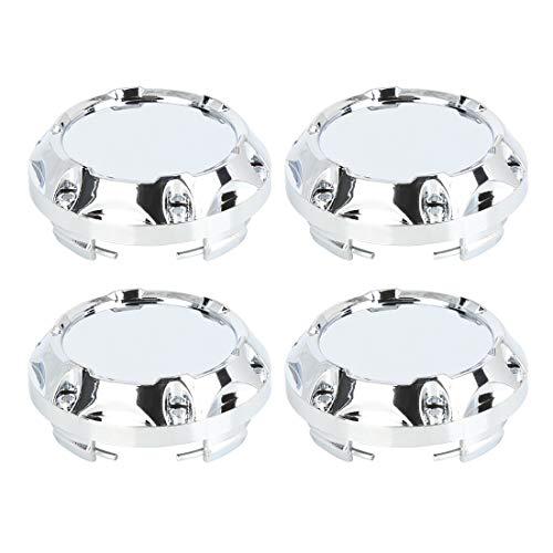 Sourcingmap 4pcs 65mm Ton Argent Diamètre 4 Lugs Voiture Centre Roue Cache moyeu Againster poussière