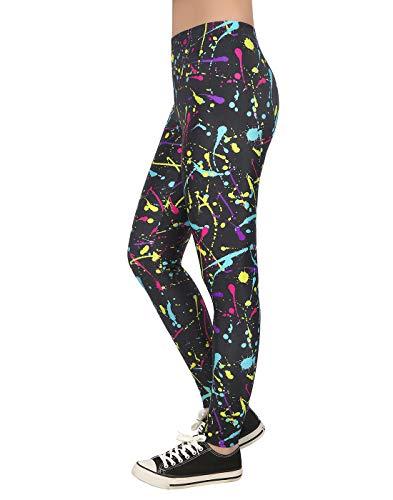 neon splatter paint leggings - 1