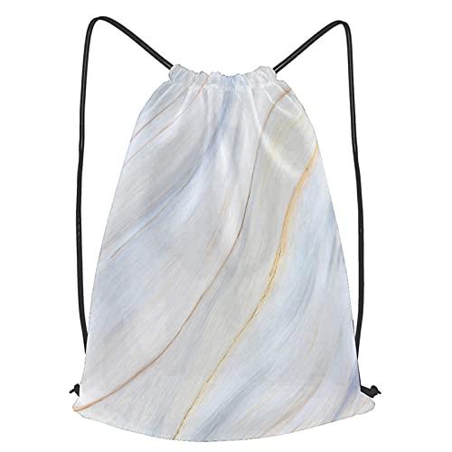 Tcerlcir Bolsas de Cordones Cadena Mochila Patrón de Textura de mármol de Alta resolución Bolsa de Asas Bolsa de cincha Bolsas Deportivas para Gimnasio Viajar