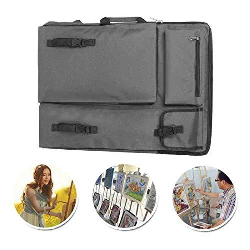 Zeichnungtasche Tragbare Wasserdichte Skizze Reißbrett Tasche Oxfordtuch Zeichenplatten Transporttasche mit Schultergurt und Griff, Zeichenbrett Rucksack Künstlermappe für Malerei Skizzieren