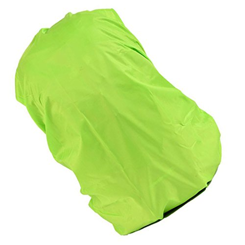 Wasserdicht Regenschutz für Rucksäcke Rucksackschutz Ranzen Regenschutz Rucksackcover Regenüberzug Sicherheitsüberzug Reflektorüberzug für 30L - 40L Rucksack - Grün