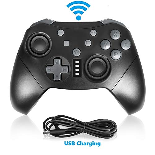 Laelr Mannette pour Nintendo Bluetooth Pc Manette de jeu Double Vibration Mini télécommande Joystick Joypad Compatible avec Switch/ Switch Lite/ Window PC