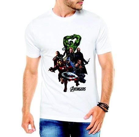 Camiseta Vingadores Ultimato Avengers Marvel Super Heróis (branco, P)
