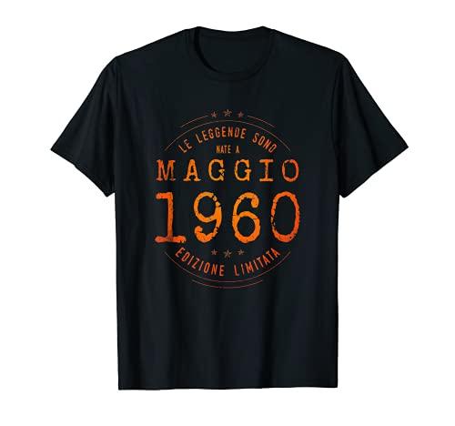 Compleanno 61 anni Le Leggende Sono Nate nel Maggio 1960 Maglietta