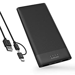 Slimline & Compact: Possibly the thinnest 10000 mAh power bank on the market(1.35cm thin). Perfect for travelling and working remotely. Its ergonomic design makes it comfortable to hold in hand. Charges tablets, phones, smartwatches, Bluetooth earpho...