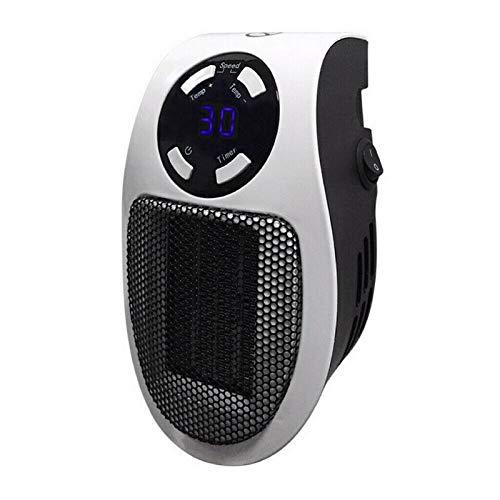 Mini Plug-In LED Elektroheizung, PTC Heizung 12 Stunden Timer, Überhitzungsschutz Einstellbare Temperaturregelung von 15-30 Celsius (Britischer Standard)