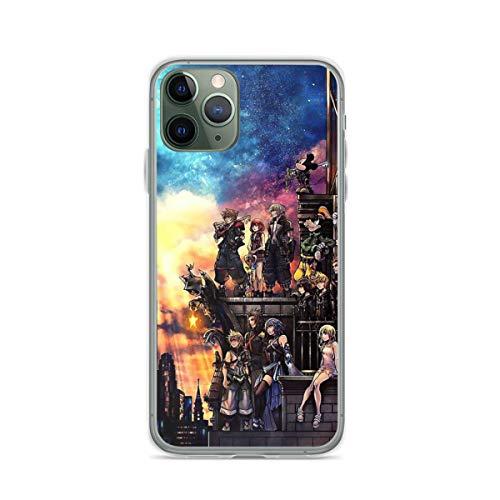 Fundas para teléfono Pure Clear compatibles con iPhone Samsung Xiaomi Redmi Note 10 Pro/Note 9/8/9A/Poco M3 Pro/Poco X3 Pro Funda para Kingdom Hearts 3 Funda Protectora de Silicona TPU