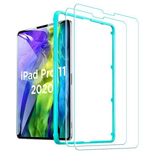 """ESR Protector de Pantalla para iPad Pro 11 (2020/2018) [Dureza 9H][Transparencia HD][Resistente Arañazos][Cristal Templado iPad Pro 11"""" (2020/2018)][2 Veces más Resistente][2 Unidades]"""