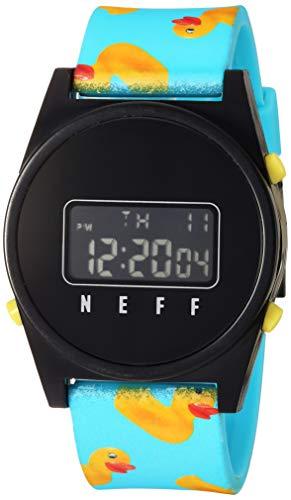 Neff Unisex Digital Daily Japan-Automatic Resin Watch Black