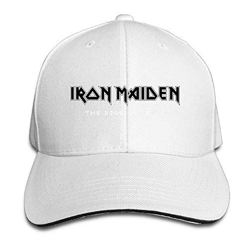 fjfjfdjk Iron Maiden Heavy Metal Band Logo Sandwich Cap Snapback Hat Style Navy