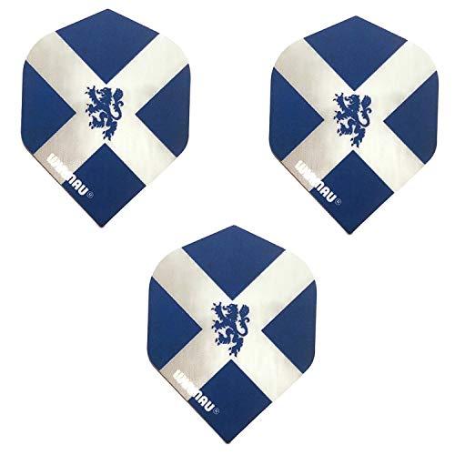 Winmau Schottland-Flagge, Löwe, Schottland, 75 Mikrometer, starke Dart-Flights, (3 Sets – 9 Flights)