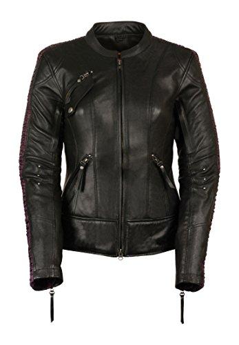 Milwaukee Leather Women's Embossed Phoenix Jacket (Black/Purple, Medium)